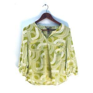 Banana Republic Long Sleeved Blouse Green Small